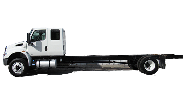 Commercial Truck with Cap and Chassis